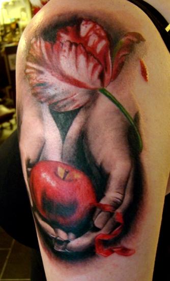 The twilight apple tattoo