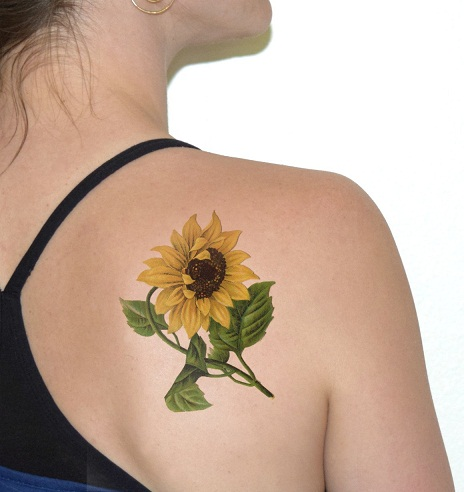 15 best sunflower tattoo designs with meanings. Black Bedroom Furniture Sets. Home Design Ideas