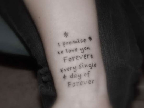Twilight quotes tattoo