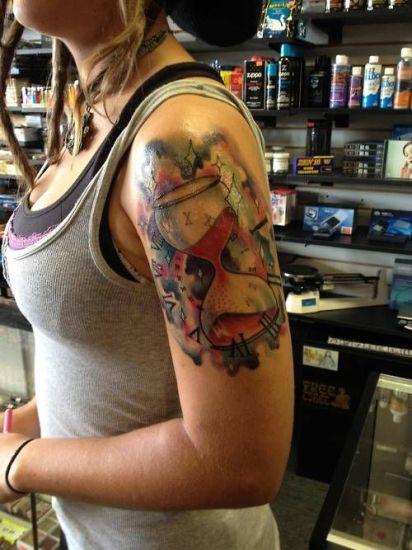 Hourglass Tattoo 1
