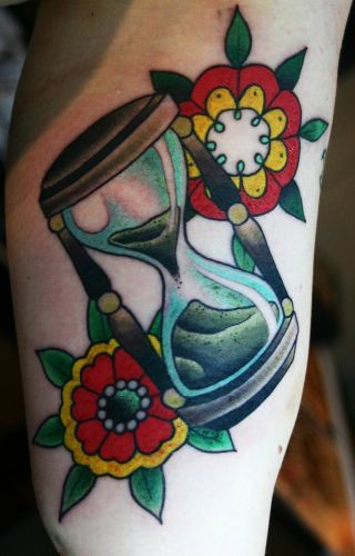 Top 9 Hourglass Tattoo Designs And Pictures  Styles At Life