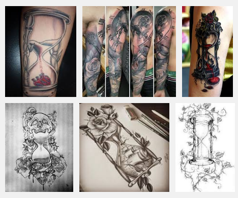 Top 9 Hourglass Tattoo Designs And Pictures | Styles At Life