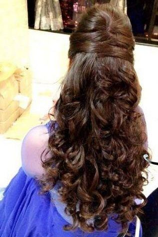 Indian engagement hairstyles2