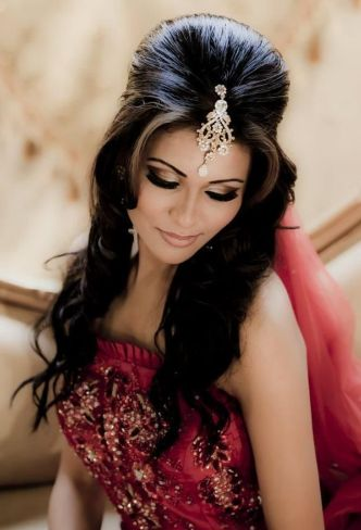 Indian engagement hairstyles6
