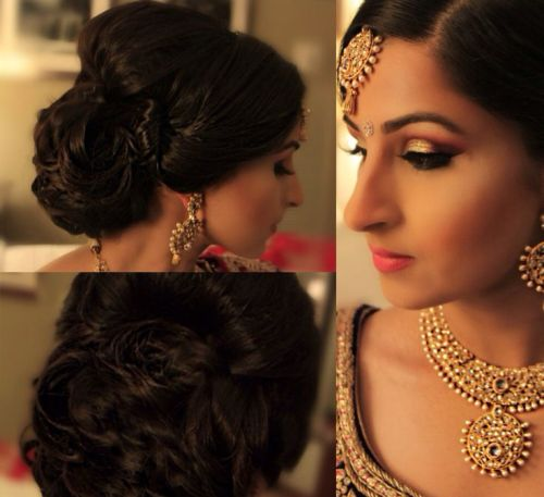 Indian engagement hairstyles8