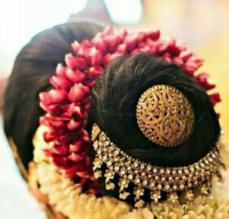 Indian Juda Hairstyle French Bun
