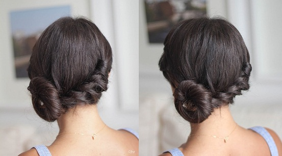Twisted Juda Hairstyle For Short Hair