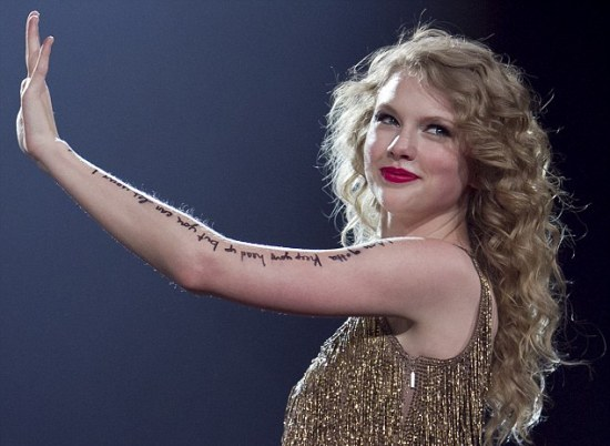 Top 9 Taylor Swift Tattoo Designs  Styles At Life