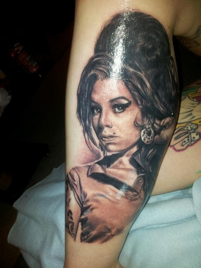 Top 9 amy winehouse tattoo designs styles at life amy winehouse tattoo 5 urmus Image collections