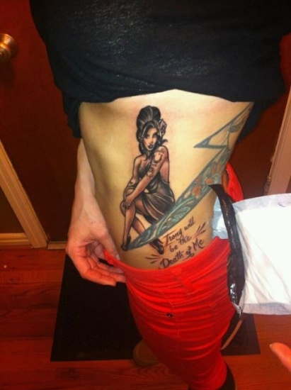 Amy Winehouse Tattoo for Legs
