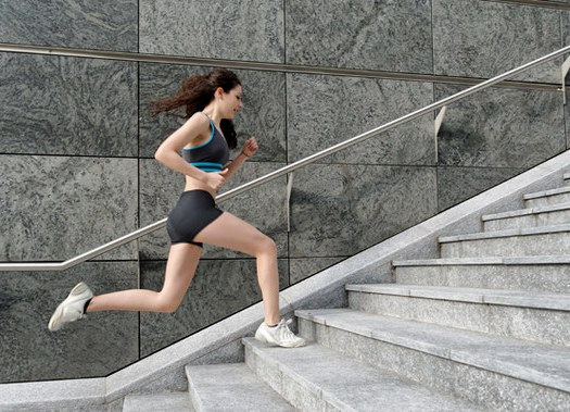 Running Up stairs exercise for reducing belly fat