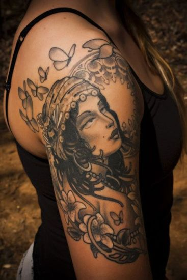 Top 9 Gypsy Tattoo Designs And Pictures | Styles At Life