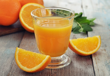 Home Remedies for Dark Circles - Orange juice