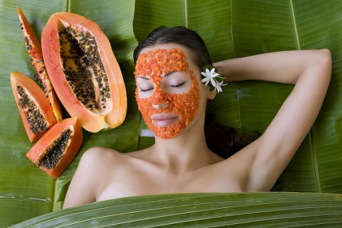 How to Get Rid of Acne Overnight-papaya fack