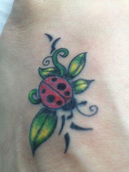 Lady Bug Tattoo Designs 1