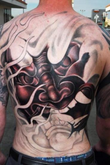 Mask Tattoo Designs 5