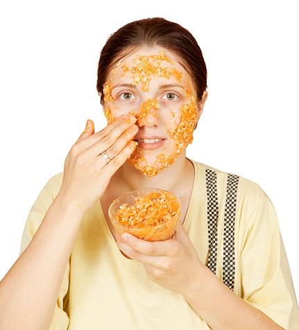 carrrot egg oatmeal face mask