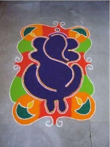 Abstract Ganesha Rangoli
