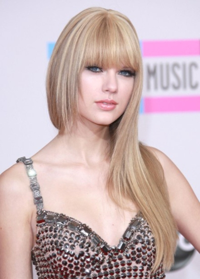 Bangs with long tresses