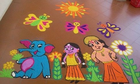 Cartoon Rangoli