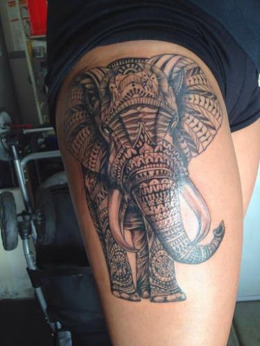 Decked up elephant Tattoo