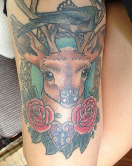 Deer Tattoo 9
