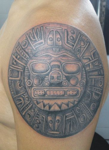 Top 9 aztec tattoo designs with meanings styles at life for Aztec hand tattoo