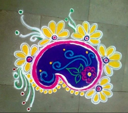 Simple Rangoli Design With Everyday Buds
