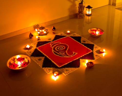 geometric rangoli patterns