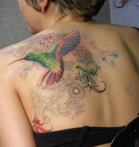 Hummingbird in colors Tattoo