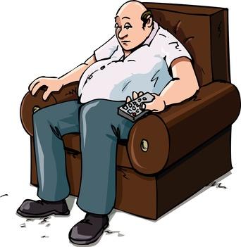 Cartoon of a Couch Potatoe