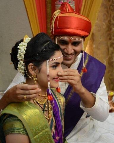 Marathi Hairstyle on Saree