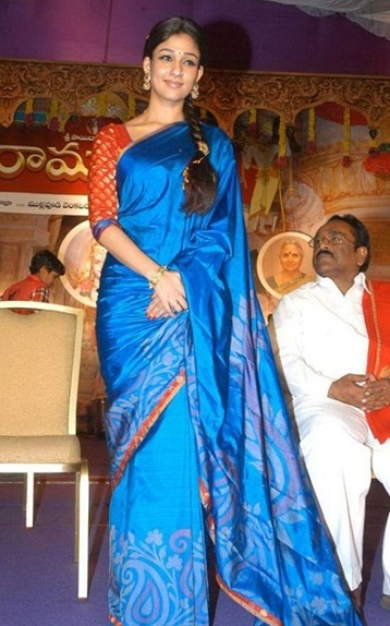 Nayanthara in Silk Saree