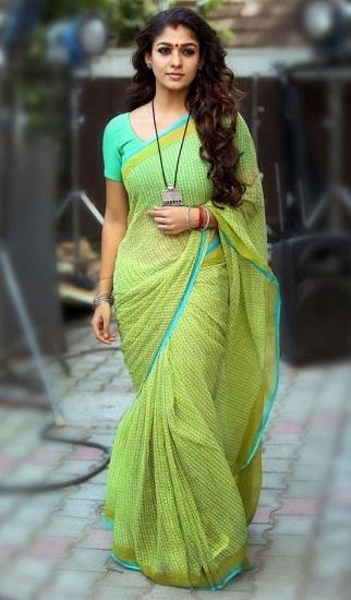 Nayanthara in Cotton Saree