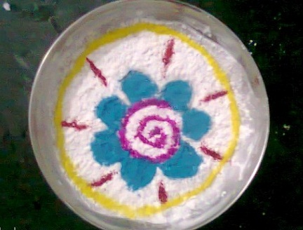 Rangoli on Water