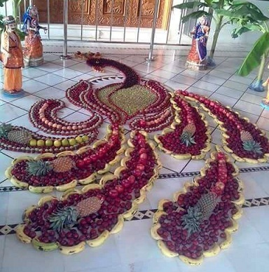 Rangoli with Fruits