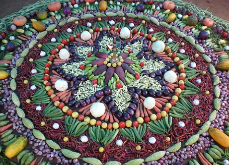 Rangoli with Vegetables