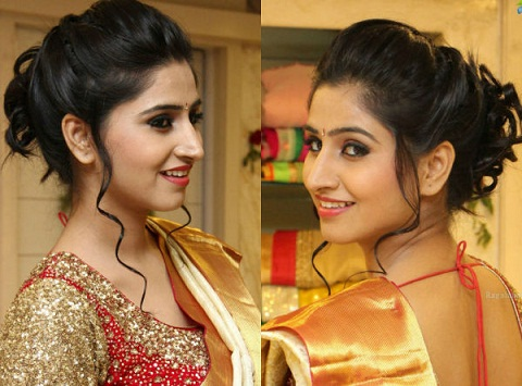 30 Beautiful Hairstyles That Suit Well On Your Saree Styles At Life