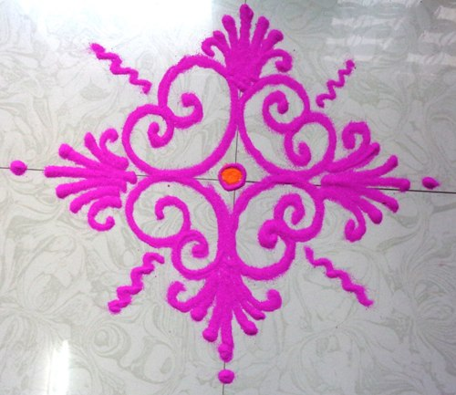 Best Simple And Easy Rangoli Designs on Symmetrical Patterns For Kids