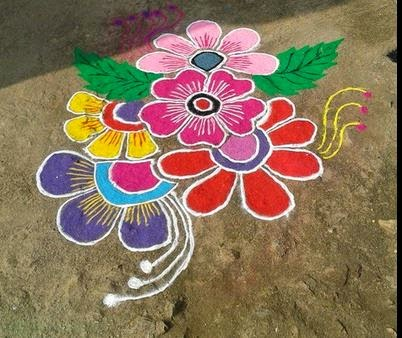 Simple Band Rangoli