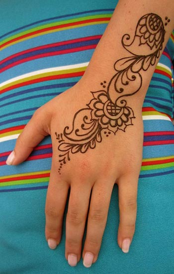 Simple Mehndi Designs for Youngsters