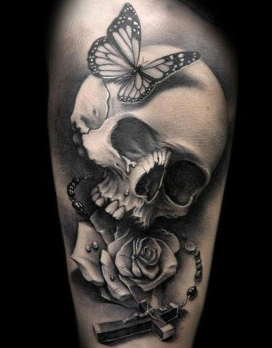 Sweetheart skull tattoo