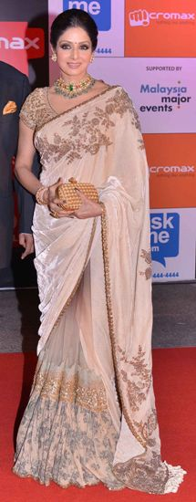 The champagne saree