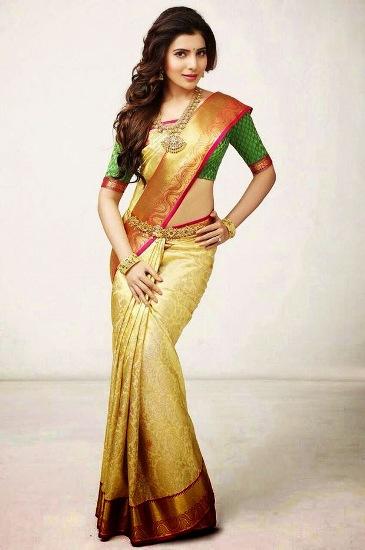samantha wedding saree