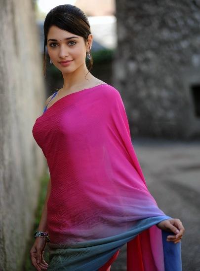 tamanna in saree