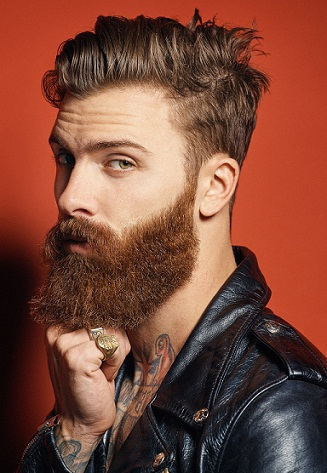 The Thick Hairstyle for Men with Beard