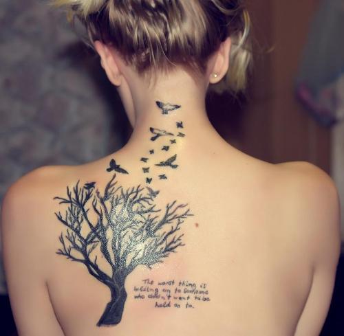 Trees and birds TATTOO