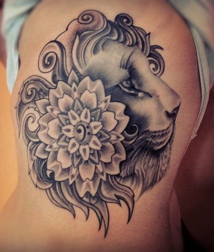 beauty of a lioness Tattoo