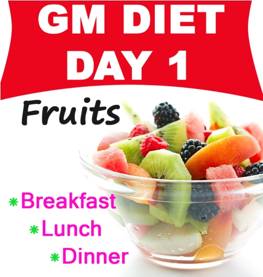 Gm Diet Day 1