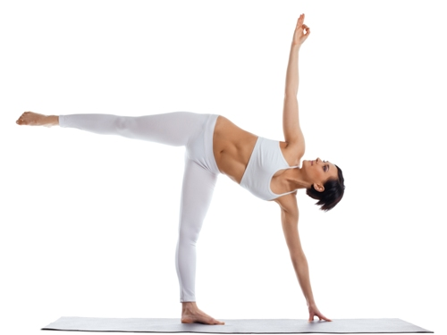 power- half moon pose